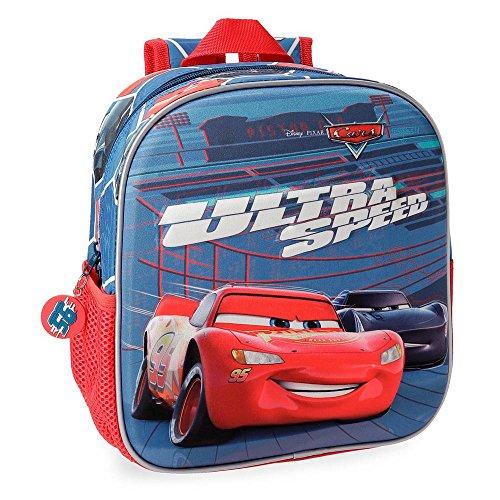 Cars Ultra Speed Preschool Or Nursery Backpack, 25 cm Front Part In 3D