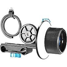 Neewer® Follow Focus - ghiera dentata regolabile per fotocamere DSLR come Nikon, Canon, Sony/DV/videocamera/film/videocamere, adatta per supporti a tracolla, stabilizzatori, attrezzatura per riprese film, l'intera installazione barra 15mm