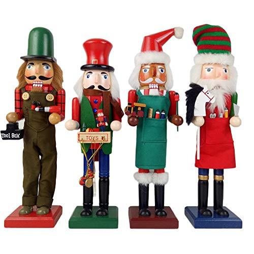 Yestter Soldat-Nussknacker Im Klassischen Anzug, Handgemachte Hölzerne Nussknacker, Neue Hölzerne Marionetten-Weihnachtsbaum-Dekorations-Feiertags-Verzierungs-Dekorations-Sammlung
