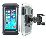 smart2Bike® Fahrradhalterung / Motorrad-Halterung Mit Hard Case (Schutz-Tasche) Für Smartphone, Navigator, Handy, Uvm. - Display-Diagonale Universal: 4,7' (bis 5,1'') passend zu Apple iPhone 6, 6S, Samsung Galaxy S7, J1, Microsoft Nokia Lumia 630, 640 LTE uvm. Schutzhülle Spritzwasser geschützt! Mit Sicherungsriemen, rückseitigen Gürtelschlaufen und 1/4''-Gewinde!
