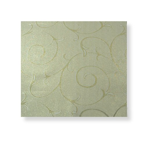 Gold Swirl Design Dining Table Linen Set for 6 Seater Tables (Contains Table Runner, TableCloth, Placemats & Napkins)