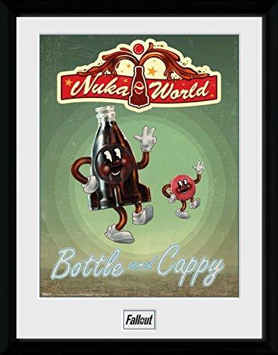 Preisvergleich Produktbild 1art1 100178 Fallout - Bottle And Cappy Gerahmtes Poster Für Fans Und Sammler 40 x 30 cm