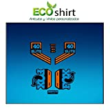 ECOSHIRT ARTICULOS Y VINILOS PERSONALIZADOS PEGATINAS STICKERS FORK FOX 40 PERFORMANCE ELITE 2017 AM95 AUFKLEBER DECALS AUTOCOLLANTS ADESIVI FORCELA GABEL FOURCHE (AZUL NARANJA/BLUE ORANGE)