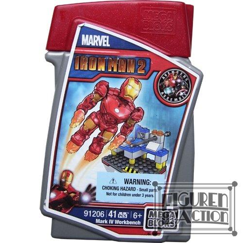 Mega Bloks Ironman 2-Mark IV Workbench-91206 RARE