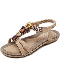 Minetom Damen Sommer Retro Flache Badesandale Sandalen Mode Peep Toe Flip Flop Zehentrenner Schuhe Frauen Übergröße Sommerschuhe Strandschuhe Weiß EU 40