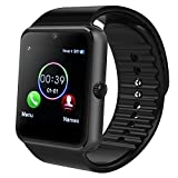 Bluetooth Smart Watch, MAMYOK Smartwatch Uhr Intelligente Armbanduhr Fitness Tracker Armband Sport Uhr mit Schlafanalyse/Alarme/Kameraaufnahme/Romte Capture/GPS-Routenverfolgung Kompatibel mit Android Smartphone (GT08)
