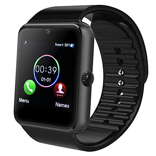 MAMYOK Bluetooth Smart Watch, Smartwatch Uhr Intelligente Armbanduhr Fitness Tracker Armband Sport Uhr mit Schlafanalyse/Alarme/Kameraaufnahme/Kompatibel mit Android Smartphone (GT08)