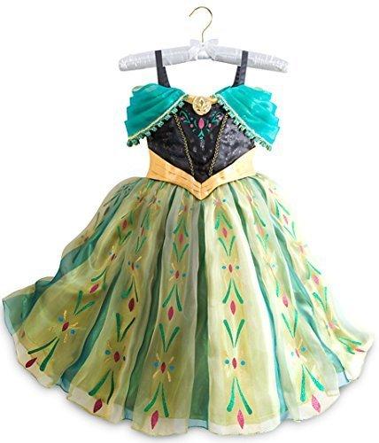 Disney Store Frozen Princess Anna Deluxe Coronation Costume: Size 7/8 by Disney (Coronation Princess Disney)