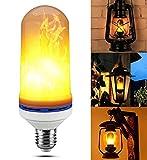 ✽ zezkt de Home ✽ Navidad decoración LED Flame Effect Fire Light Bulb Light Flicker Flame Interior de decoración lickering Flame Lamp simula Ted Vintage Ambiente decorativa Lámpara, E27