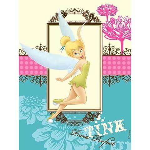 Disney Fairies Trilli Rosa Azzurro Tappeto Fatto a Mano