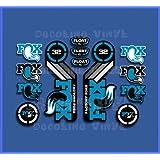 Ecoshirt KR-S0VO-TMBG Aufkleber Fork Fox 32 Factory SC Float 2017 Am87 Aufkleber Decals Sticker Gabel Gabel Blau
