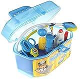 Spielzeug Arztkoffer mit umfangreichem, funktionierendem Zubehör (blau)