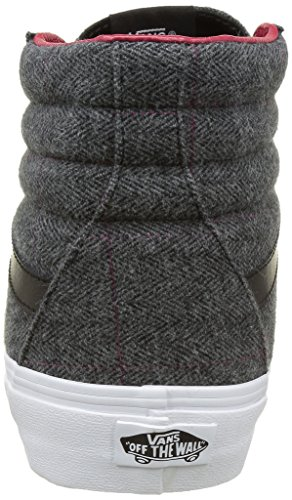 Vans Sk8-Hi, Baskets Basses Mixte Adulte Noir (Tweed)