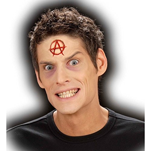 n Effekt Schminke mit Kleber F/X Applikation Antifa Anarchy Symbol Latexapplikation Punk Make Up Theaterschminke Halloween Profischminke ()