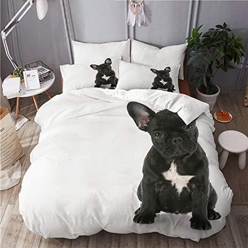 LISNIANY Ropa Cama,Cachorro Bulldog francés Sentado