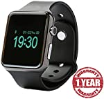 You can use the smart watch to make or answer calls. The watch's built-in speaker allows you to listen to your favorite music anywhere. Anti-lost alarm function, push notifications, remote camera. The watch has a sleep monitor, a pedometer, a sedenta...