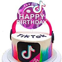 Tik Tok Happy Birthday Cake Topper Happy Birthday Tik Tok Topper Decorations for Birthday Party Music Theme Party