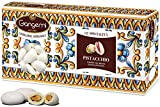 Gangemi Confetti - 1kg Peladillas grageas con la almendra - Clásica de la boda italiana - sabor Pistacho - Blanco (aprox. 180)