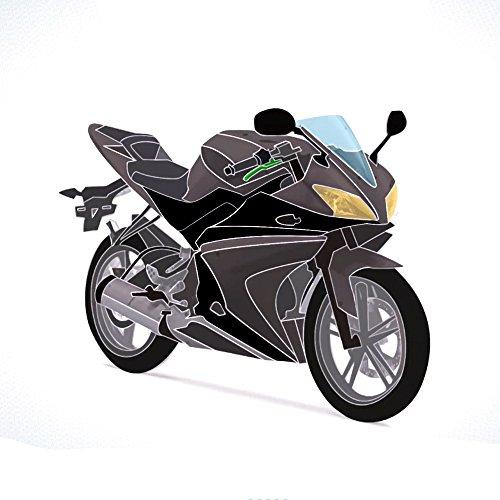 Yamaha YZF-R125 08-13 Vollverkleidungsset (20 Stück) Grau / Schwarz