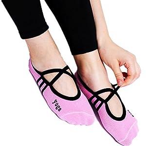 Maybesky Yoga Socken Baumwolle Slip Breathable Fünf Finger Socken Damen Pilates, Anti-Rutsch-Slip-Socken