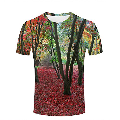 ba473bdee8 para Hombre 3D Print Nature Forest Parks Graphic Summer Casual Short Sleeve  T Shirts Fashion Couple