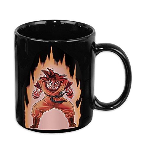 Dragon Ball Z tazza con effetto termico Goku, in ceramica