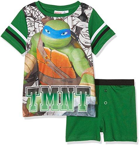 TMNT - Teenage Mutant Ninja Turtles Jungen Zweiteiliger Schlafanzug Leonardo Grün (Green 008) 3-4 Jahre