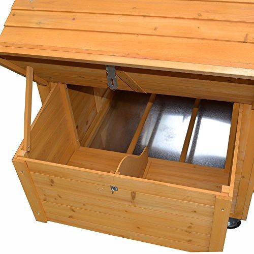 Melko® XXL Hühnerstall Hühnerhaus inklusive Rampe, 157 x 90 x 114 cm, aus Holz, rollbar, 2 Nestboxen - 3