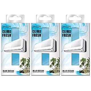 Areon Klima Fresh Deodorant-Ozean blau Haus Umwelt Papier Duft Duft Filter Aroma Original (Blue Ocean Stück 3)