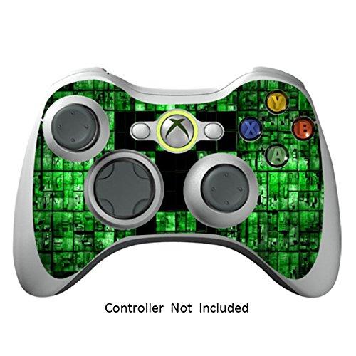 Designfolie Sticker - Vinyl Aufkleber Schutzfolie Skin für Xbox 360 Controller - Green Digicamo ()