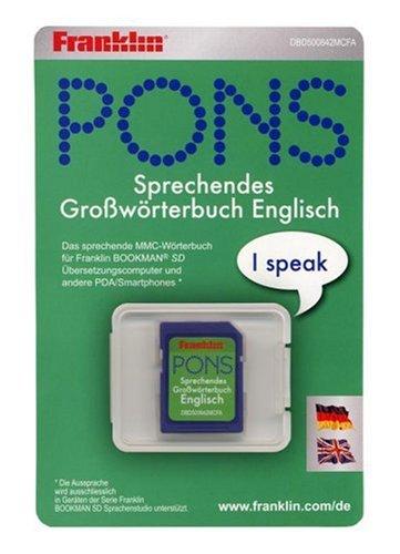 Preisvergleich Produktbild Franklin DBD-500842 Pons Großwörterbuch Deutsch/Englisch elektronisches Wörterbuch