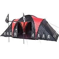 skandika isla de muerta 6 person pirate tent with 3000mm water column & sun canopy