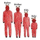 POLP Niño Con Capucha Romper Jumpsuit Pijamas Familiares Ropa de Dormir Traje de Navidad Pijamas de una Pieza Pijama Dos Piezas Mujer Hombre Niños Niña Ropa de Dormir para Bebés Mamá Papá