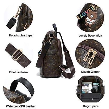 51 yFWDwvCL. SS416  - Mochila de las mujeres antirrobo impermeable mochila casual monedero de cuero de la PU bolsa de hombro de la escuela ligera