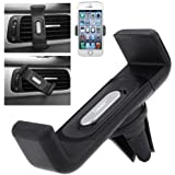 Casotec Air Vent Car Mount Cradle For 4-5.5 Inches Smartphones, GPS - Black