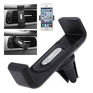 Casotec Air Vent Car Mount Cradle For 4-5.5 Inches Smartphones, GPS - Black