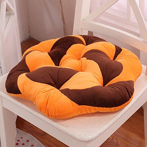 ZHLONG Wurfkissen Rückenlehne Taille Kissen Kissen Sofa Cushions(45CM) , orange , 45 cm diameter (Orange Wurfkissen)