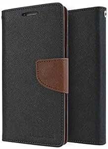 ROIEX Flip Cover for Nokia Lumia 532Dual (Black & Brown)
