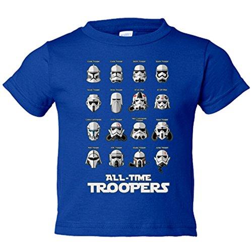 Camiseta niño Star Wars Troopers de todos los tiempos - Azul Royal,...