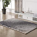 carpet Waschbar Vakuum Dauerhafte Teppich Verschlüsselte 3D Elastische Seide Teppich Einfache Moderne Couchtisch Lounge Schlafzimmer Teppich Hause Tägliche Matte,120 X 170 cm,# 1