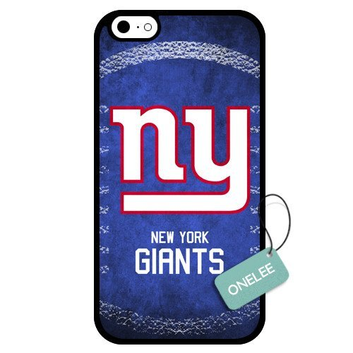 onelee (TM)-personnalisé NFL New York Giants Team Logo Design TPU Apple iPhone 6Coque-Noir 01