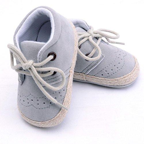 Brightup Baby Soft Soled Baby Schuhe, Baby Mädchen Winter Frühling Herbst Schuhe Booties Hellgrau