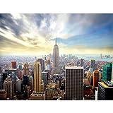 Fototapeten New York 352 x 250 cm Vlies Wand Tapete Wohnzimmer Schlafzimmer Büro Flur Dekoration Wandbilder XXL Moderne Wanddeko -Stadt City NY Runa Tapeten 9005011a