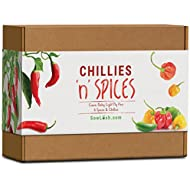 Chillies 'n' Spices Gift Seed Kit. 6 Sensational Chillies & Spices Packed with Flavour. Easy to Grow.