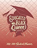 Educated Black Queen - 2018 / 2019 Student Planner (Red and White): 2018 Gift Ideas - Calendars, Academic Planners & Personal Organizers - ... Black Women, Black Girl Magic, HBCU Students)