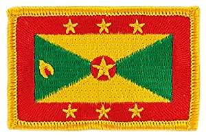 Patch écusson brodé drapeau grenade grenada thermocollant insigne backpack