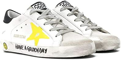 Golden Goose Luxury Fashion Ragazzo G36KS301B42 Bianco Pelle Sneakers | Ss21
