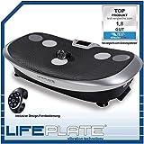 Vibrationsplatte Lifeplate 3.1 mit vertikal oszillierender Vibration - niedrige Trainingsfrequenzen - Handgelenk-Fernbedienung - Laufsimulation.