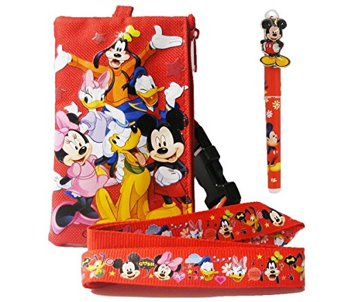 Disney Mickey Mouse Lanyard with Detachable Wallet and 1 Pen by Disney