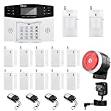 Home Security System, Thustar Professional Wireless Home Alarm System Remote Control Intelligent LED Display Voice Prompt House Business GSM Wireless Burglar Alarm Auto Dial Outdoor Siren